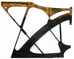 صفحه چدنی یک گرند پیانو - نما از بالا